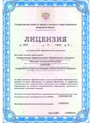 Лицензия на обр.деятельность